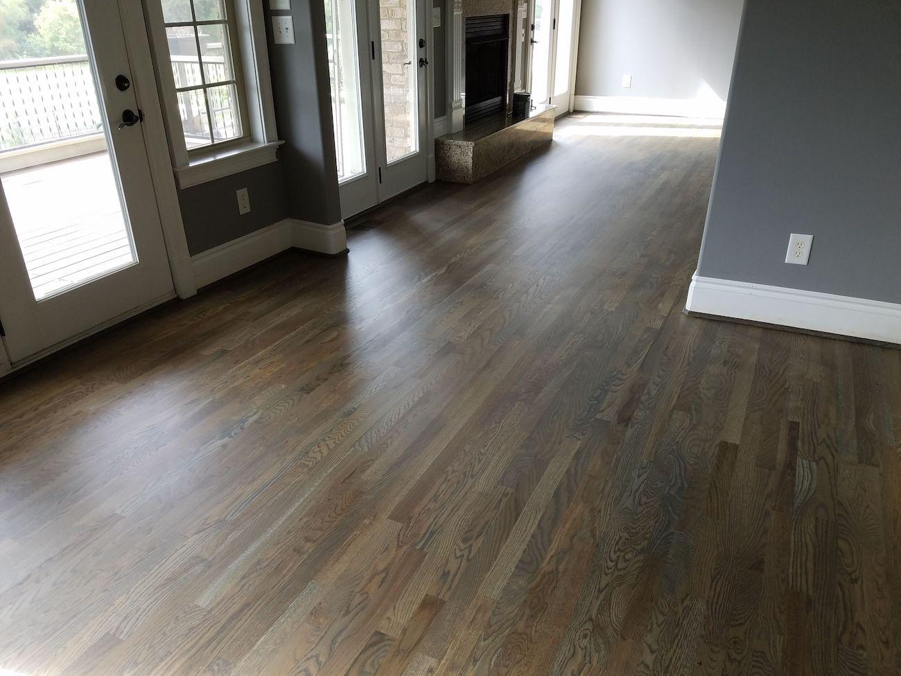 Ebonized Oak Prefinished Hardwood Flooring