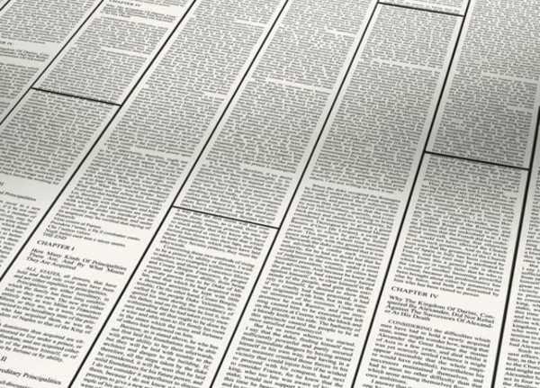 Newspaper Print Floor Decoration Pattern