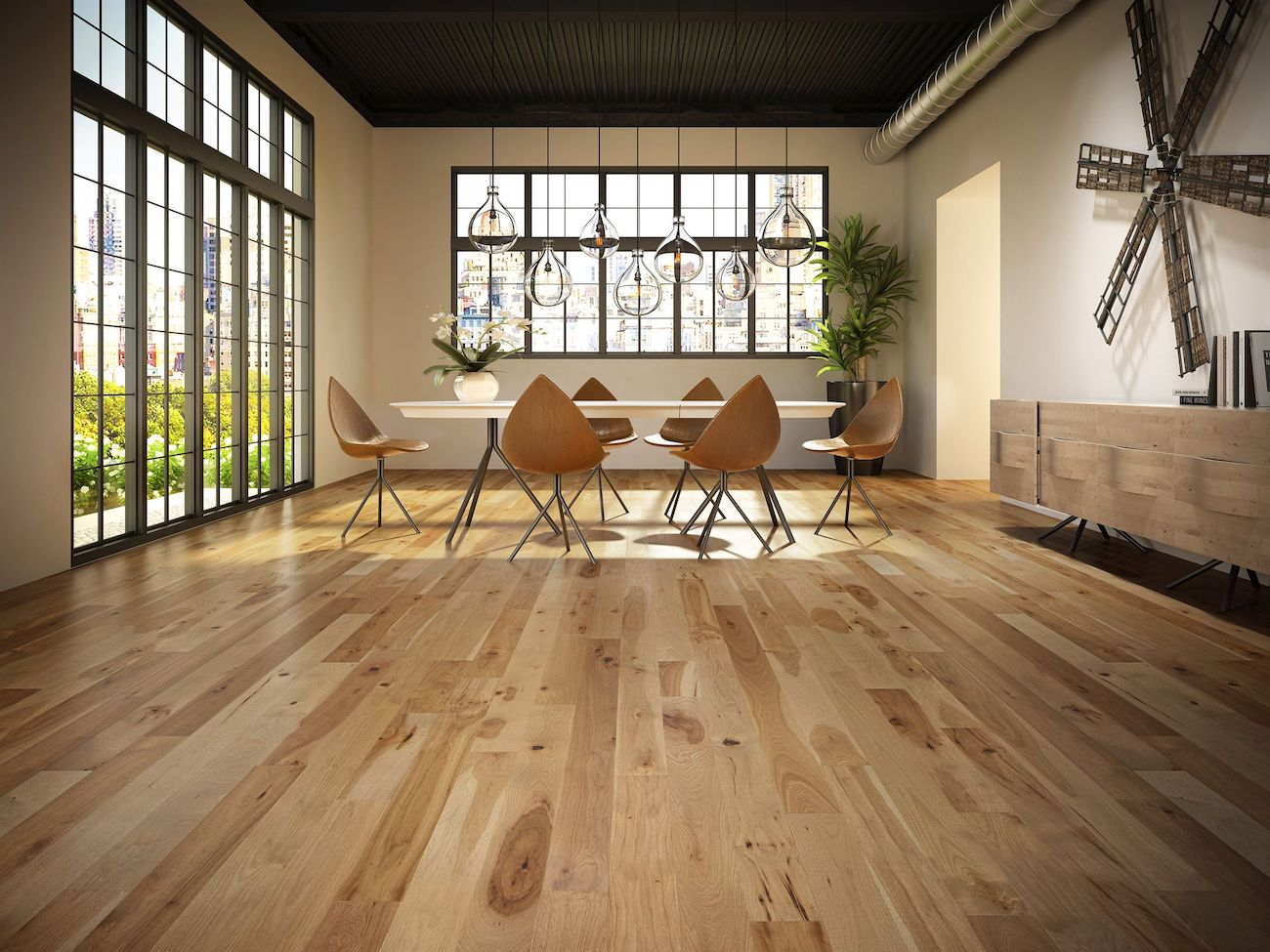Unfinished Wide Plank Hardwood Flooring