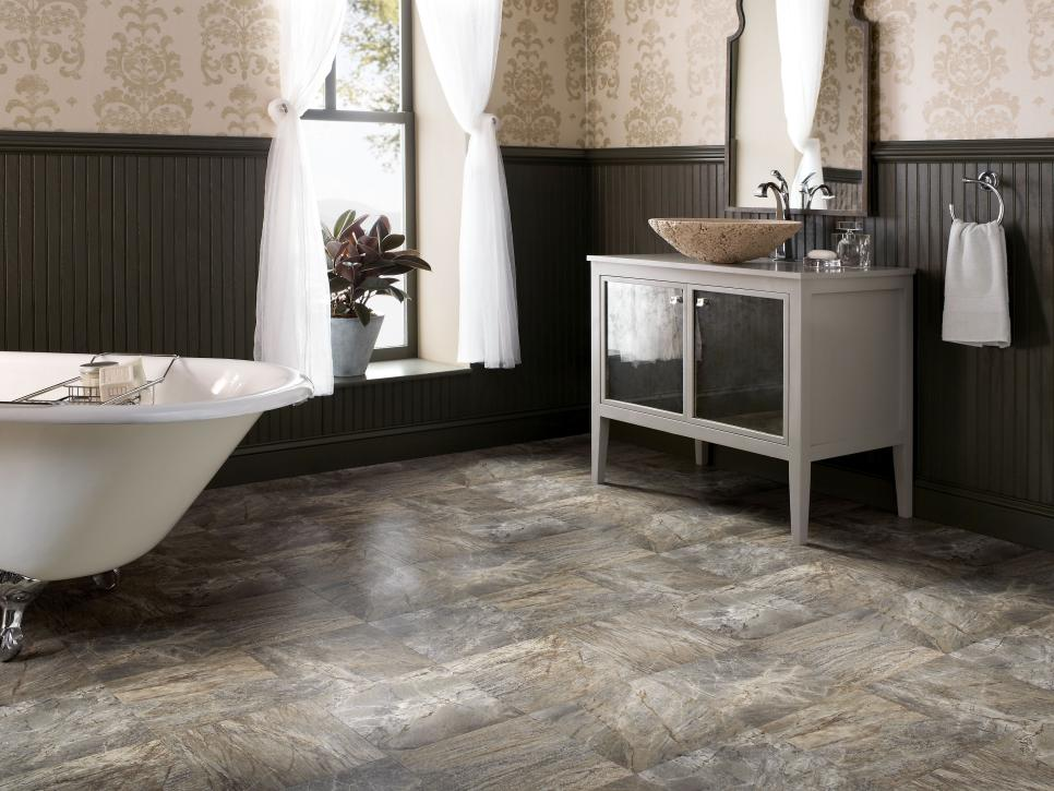 Bathroom Flooring Ideas with Vinyl
