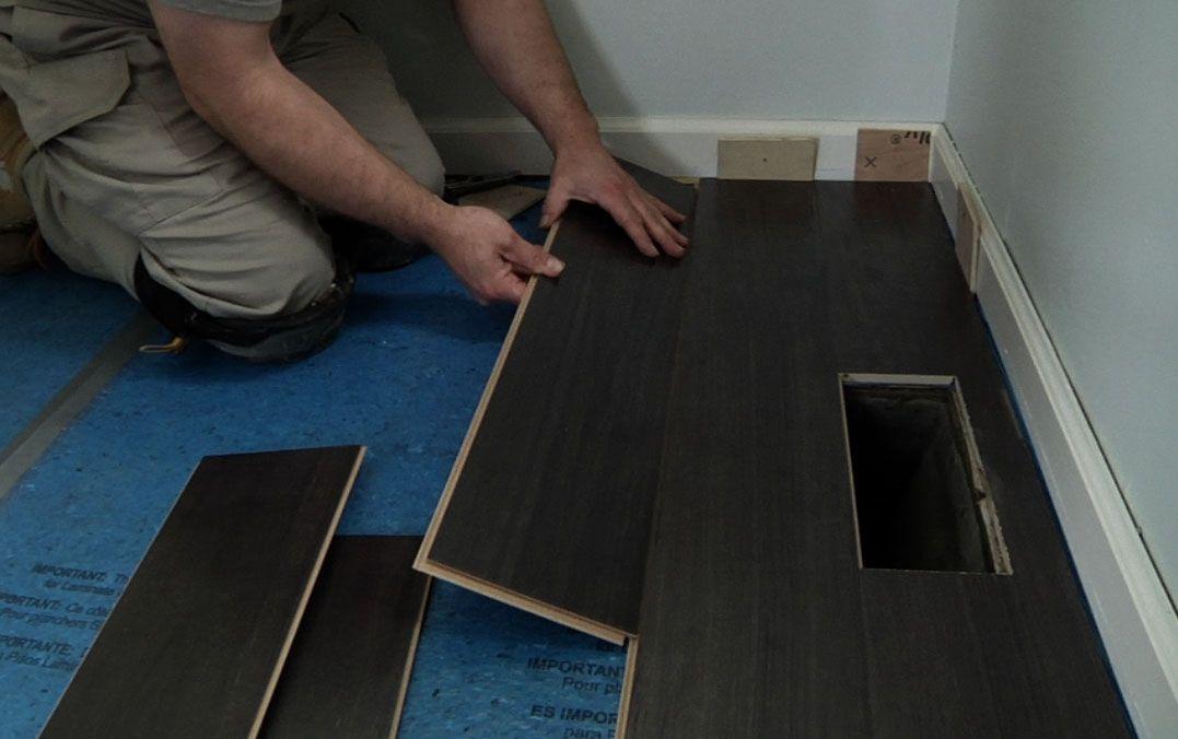 Black Laminate Flooring Installation