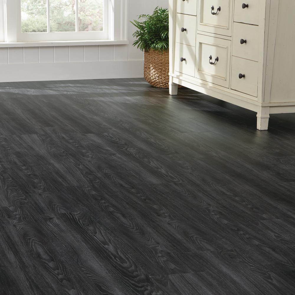 Black and Grey Vinyl Flooring