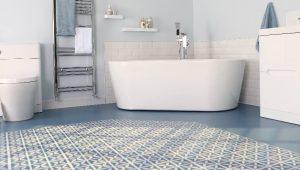 Blue Vinyl Tile Flooring Ideas