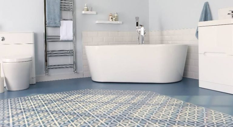 Blue Vinyl Tile Flooring Ideas