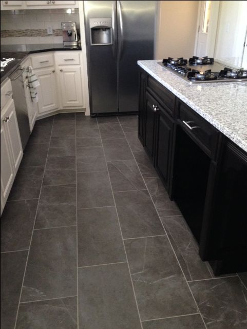 Dark Vinyl Tile Flooring Ideas