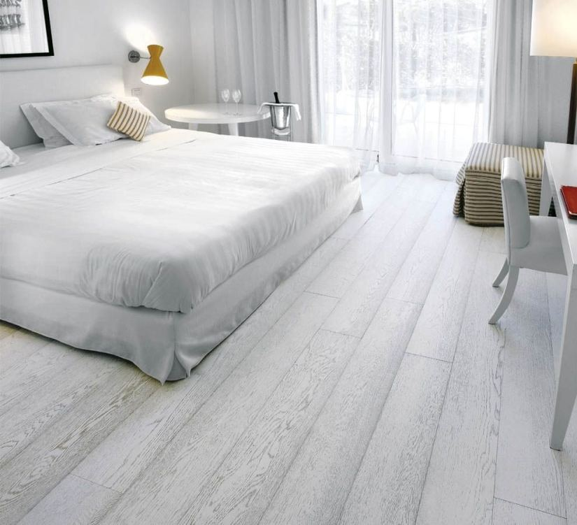 White Plank Laminate Flooring