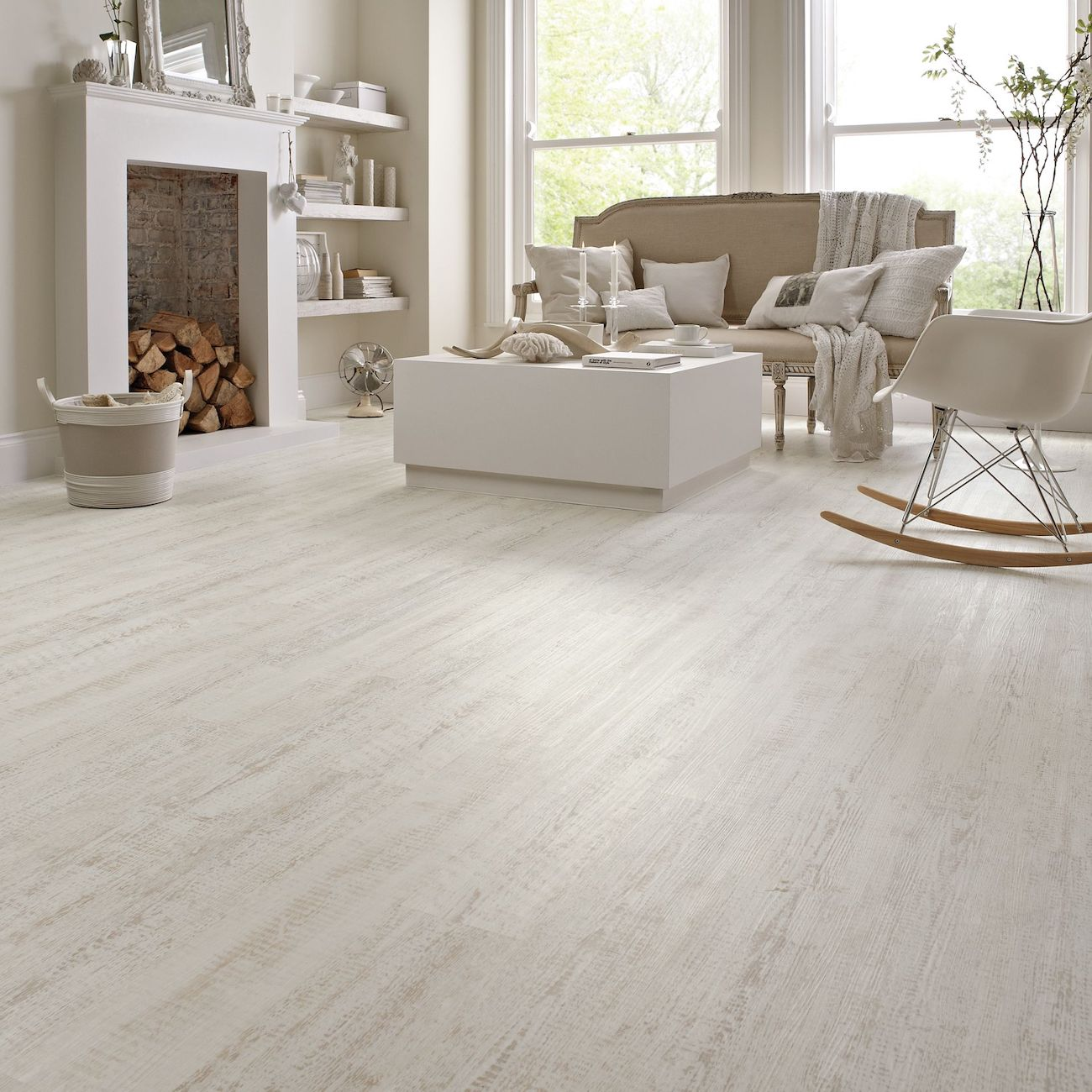White Vinyl Flooring Ideas