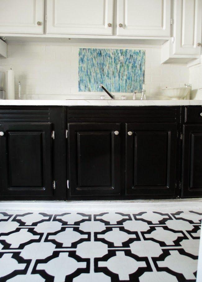black and white tile effect laminate flooring