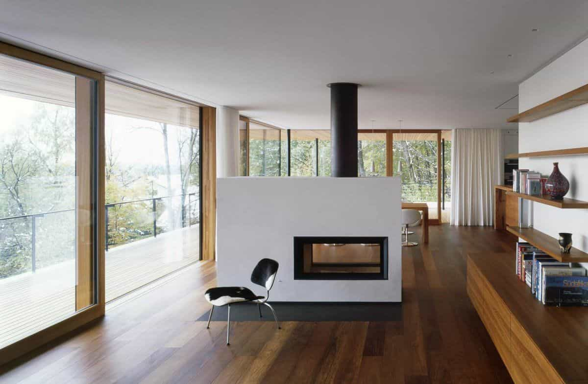 dark brown laminate flooring is suitable for either modern homes or traditional homes