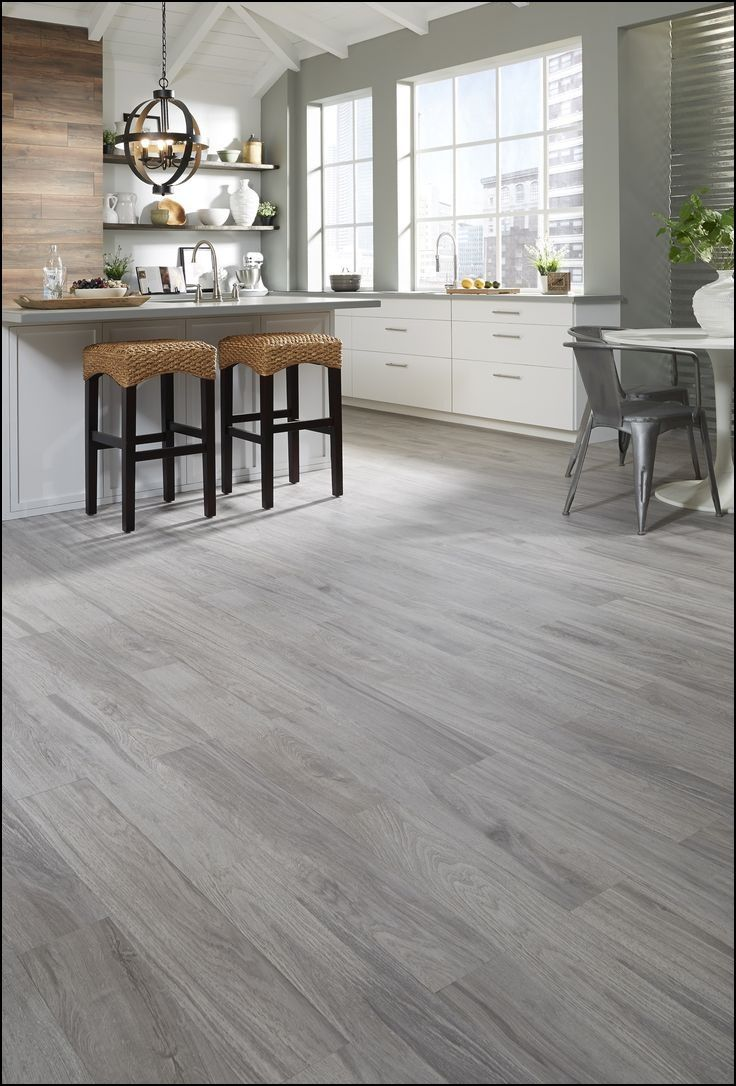 light grey flooring