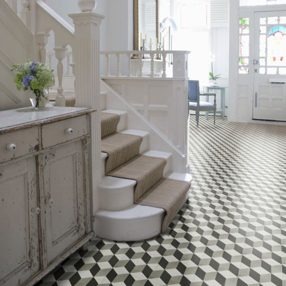 Geometric Floor Entryway
