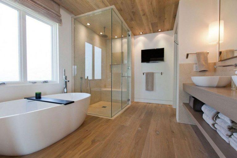 Hardwood Flooring Bathroom