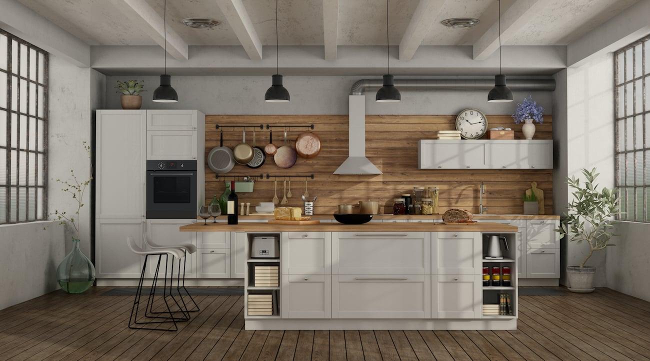 Natural Wood Retro Kitchen