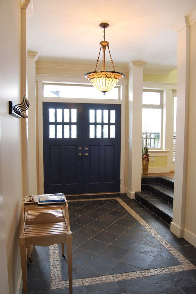 Pebble Tile Flooring Entryway