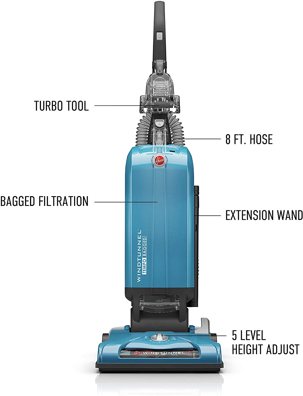Hoover WindTunnel T-Series Tempo Bagged Upright Vacuum Cleaner