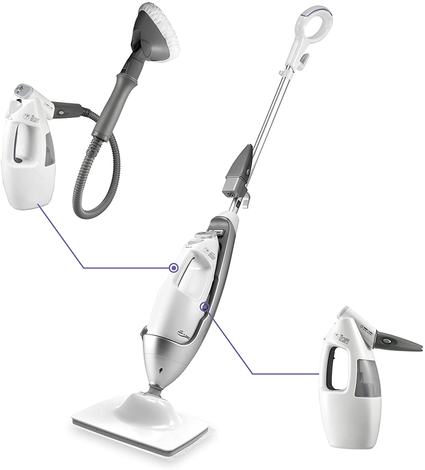 LIGHT 'N' EASY Multi-Functional steam mop Steamer