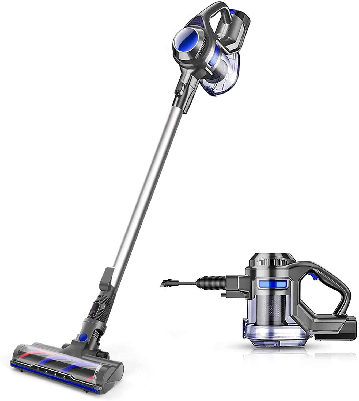 MOOSOO Cordless Vacuum 4 in 1 Powerful Suction Stick Handheld Vacuum Cleaner